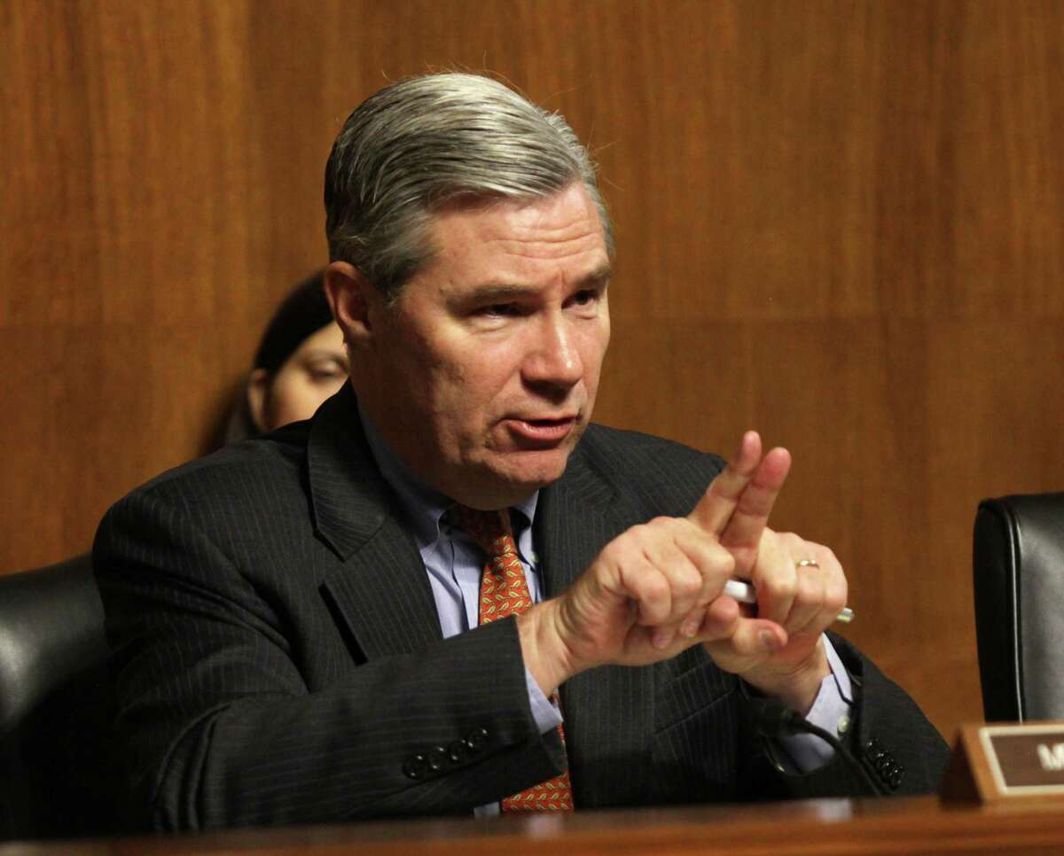 "Senate Crime and Terrorism Chairman Sen. Sheldon Whitehouse, D-R.I., presides over the subcommittee's hearing: ""Campus Sexual Assault: the Roles and Responsibilities of Law Enforcement."" on Capitol Hill in Washington, Tuesday, Dec. 9, 2014."