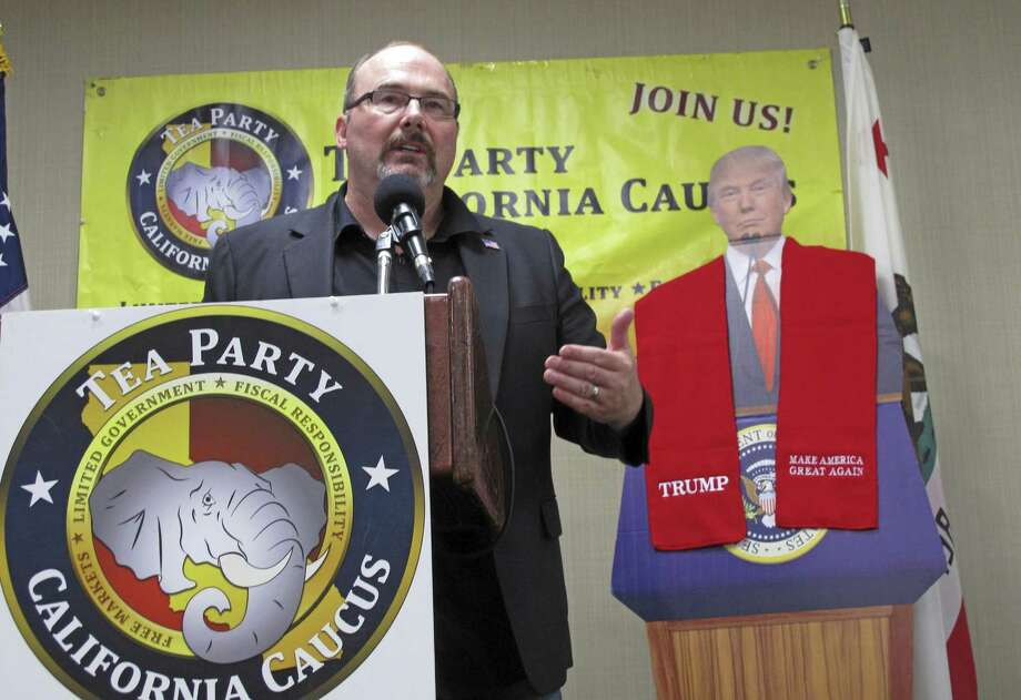 Former Assemblyman Tim Donnelly speaks at the California Tea Party conference in Fresno. Photo: Scott Smith / Scott Smith / Associated Press / Copyright 2017 The Associated Press. All rights reserved. This material may not be published, broadcast, rewritten or redistribu