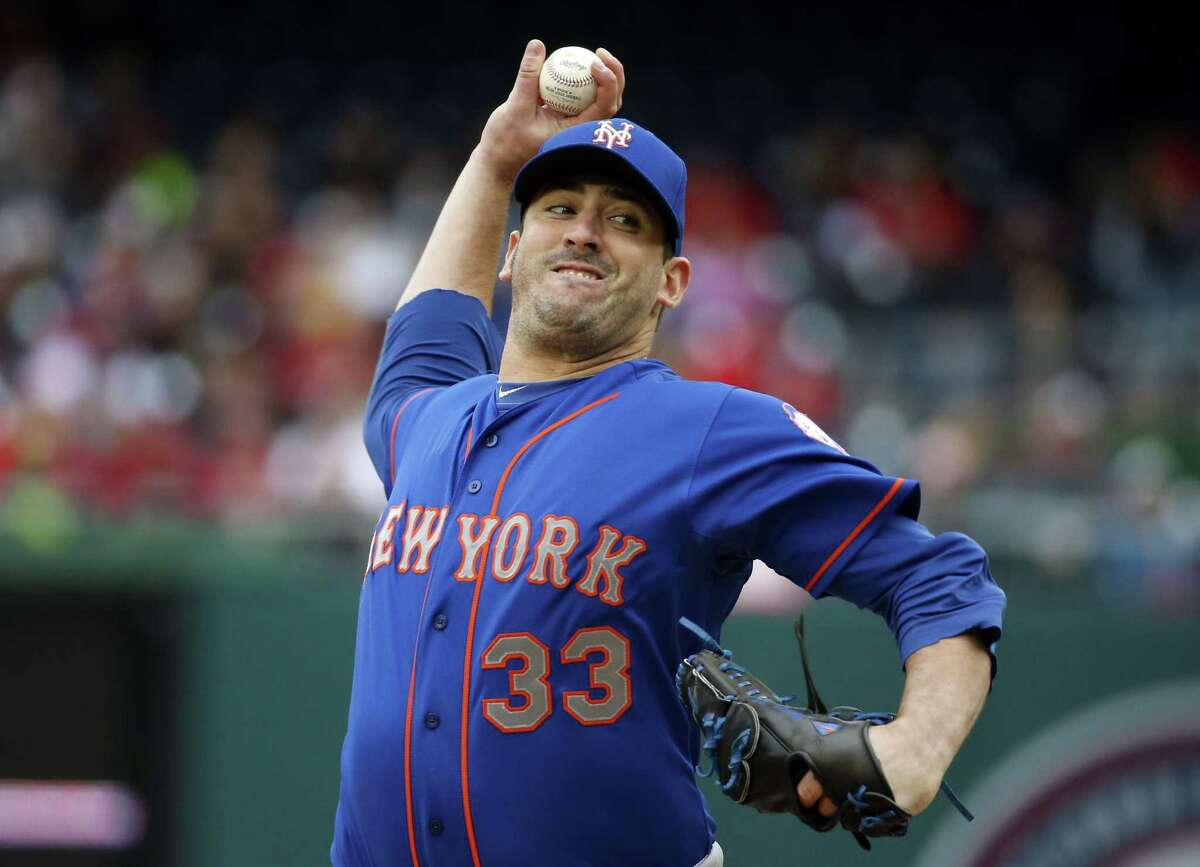 Mets starter Matt Harvey throws during the third inning of New York's 6-3 win over the Nationals on Thursday in Washington.