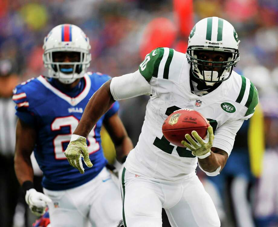 The New York Jets released wide receiver Santonio Holmes on Monday. Photo: Gary Wiepert — The Associated Press  / AP2011