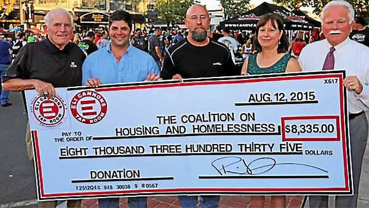 The recent Eli Cannon's Tap Room beer fest in Middletown raised $8,335 toward preventing and ending homelessness in Middlesex County.