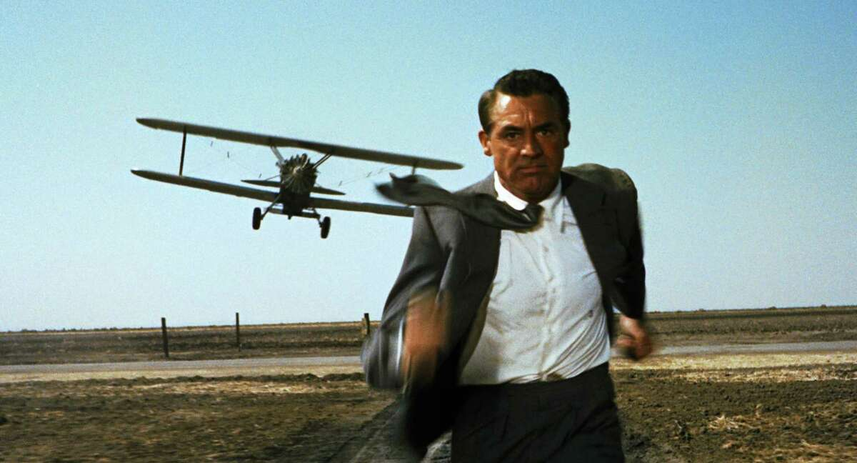 """Cary Grant in a scene from """"North by Northwest"""""""