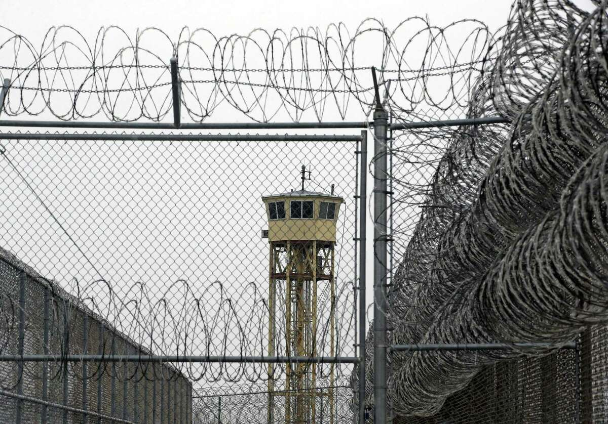 FILE - This Feb. 25, 2015 file photo shows a watch tower at the Wasatch facility during a media tour at the Utah State Correctional Facility in Draper, Utah. Utah's governor and a Latino community advocate called for answers Wednesday, April 8, 2015 in a prison inmate's death that occurred after dialysis providers failed to show up for his treatment. Gov. Gary Herbert told KSL Radio that the loss of 62-year-old inmate Ramon C. Estrada is a tragedy, and he wants to find out what happened and who is responsible. (AP Photo/Rick Bowmer, File, Pool)