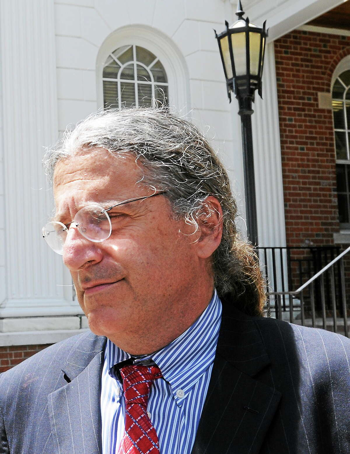 Lawyer Norm Pattis outside Superior Court in Milford on June 18, 2014.