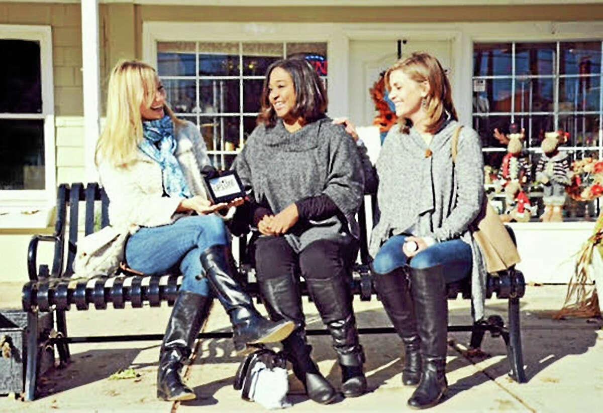 LipLuxe ads use Portland moms as models. Here, Carla Mackay, Jessica Labbadia and Sherri O'Shea pose for the camera.