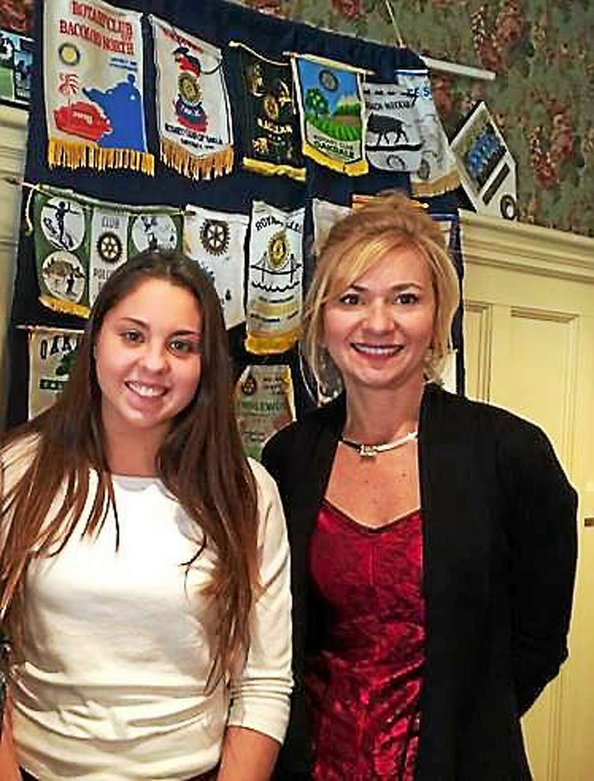 Portland High School student Brooke Marconi has been honored at the Middletown Rotary Club's student of the month.