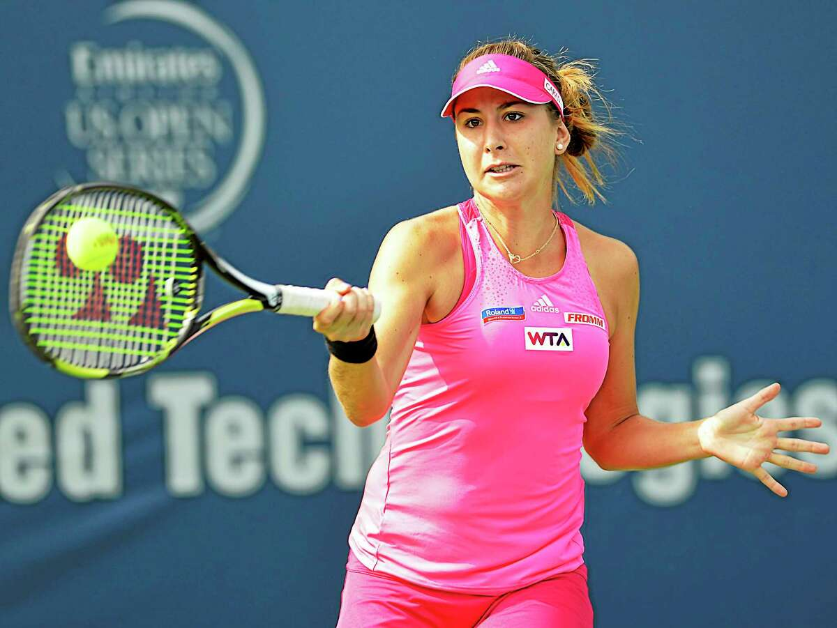 Belinda Bencic is just 17 years old, but is ranked 59th in the world. She won in straight sets over An-Sophie Mestach Saturday to advance to the final of the qualifying round of the Connecticut Open.