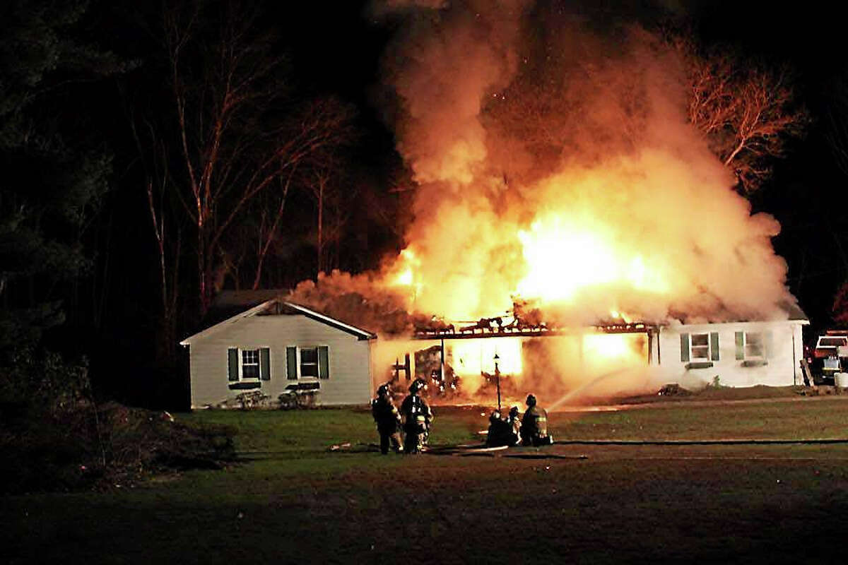 The inferno quickly tore through Tom Przybylowicz's home, destroying it.