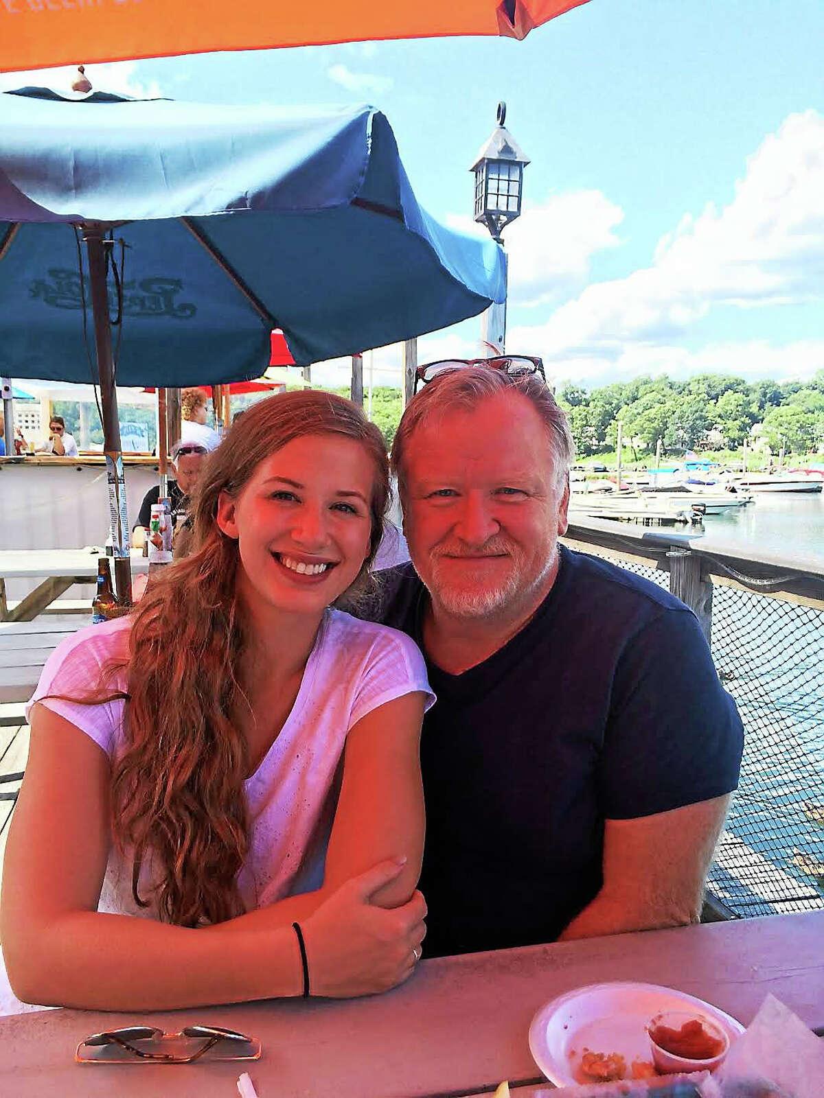 Jenna Loos and her stepfather Tom Przybylowicz.