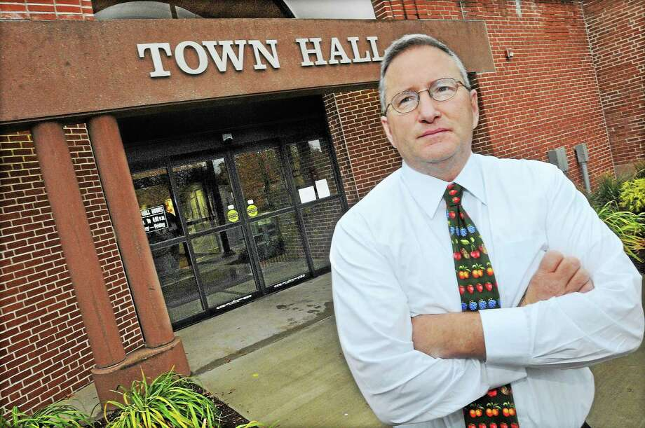 Jon Sistare, town manager in Cromwell, stepped down Monday after 13 months working for the municipality. Photo: Catherine Avalone — The Middletown Press   / TheMiddletownPress