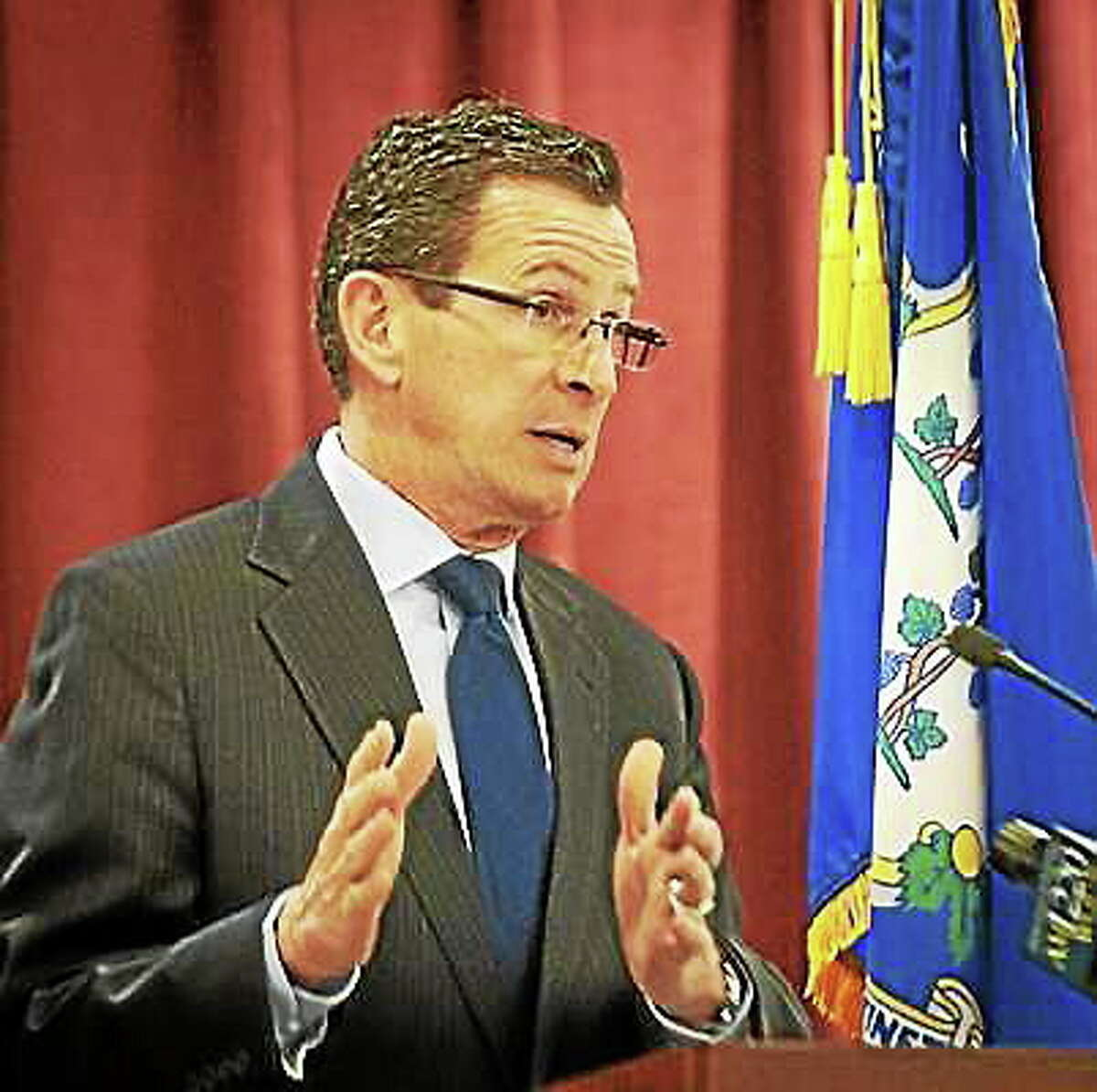 (Melanie Stengel - New Haven Register) Connecticut Gov. Dannel Malloy in this file photo.