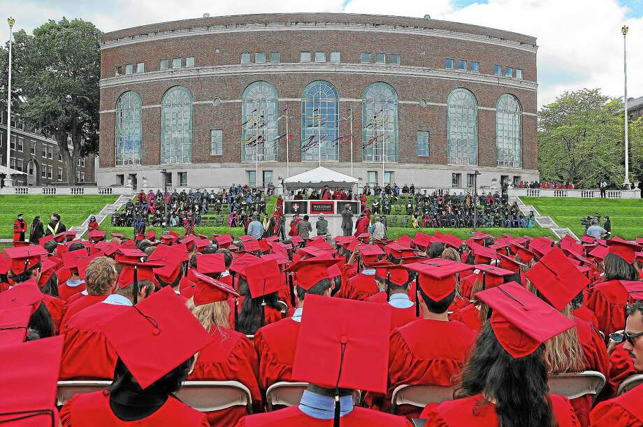 A file photo from Wesleyan University's 181st commencement in 2013. Photo: Middletown Press File Photo  / TheMiddletownPress
