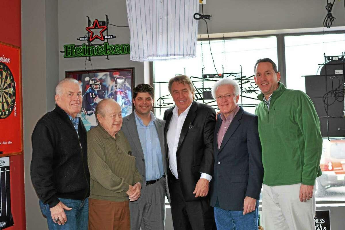 From left, Chamber President Larry McHugh, Ray Klick, Middletown Mayor Dan Drew, Rich Jukonski, Councilman Gerry Daley, and state Sen. Paul Doyle.