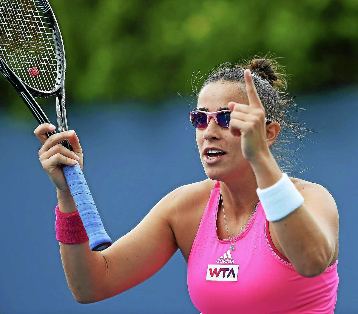 (Mara Lavitt ó New Haven Register) August 15, 2014 New Haven Today was the first day of the CT Open at the Connecticut Tennis Center. Paula Ormaechea. mlavitt@newhavenregister.com