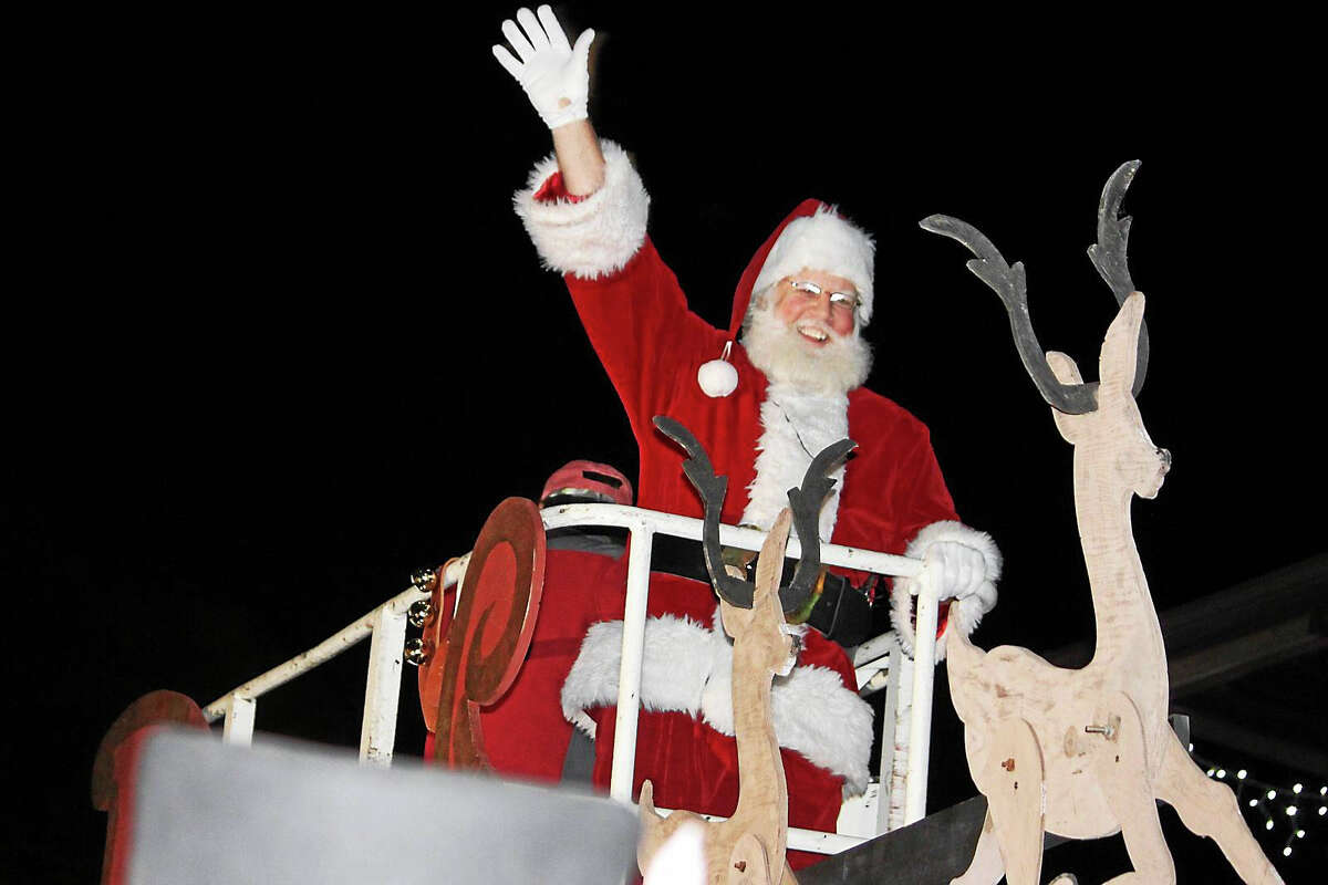 Contributed photoSanta Claus arrives for the Illuminations celebration in Ivoryton.