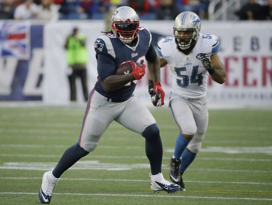 New England Patriots running back LeGarrette Blount has been suspended for one game. Photo: Stephan Savoia — The Associated Press  / AP