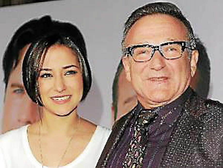 "This Nov. 9, 2009, file photo shows Zelda Williams, left, with her father Robin Williams at the premiere of ""Old Dogs,"" in Los Angeles. Photo: (Katy Winn — The Associated Press)"