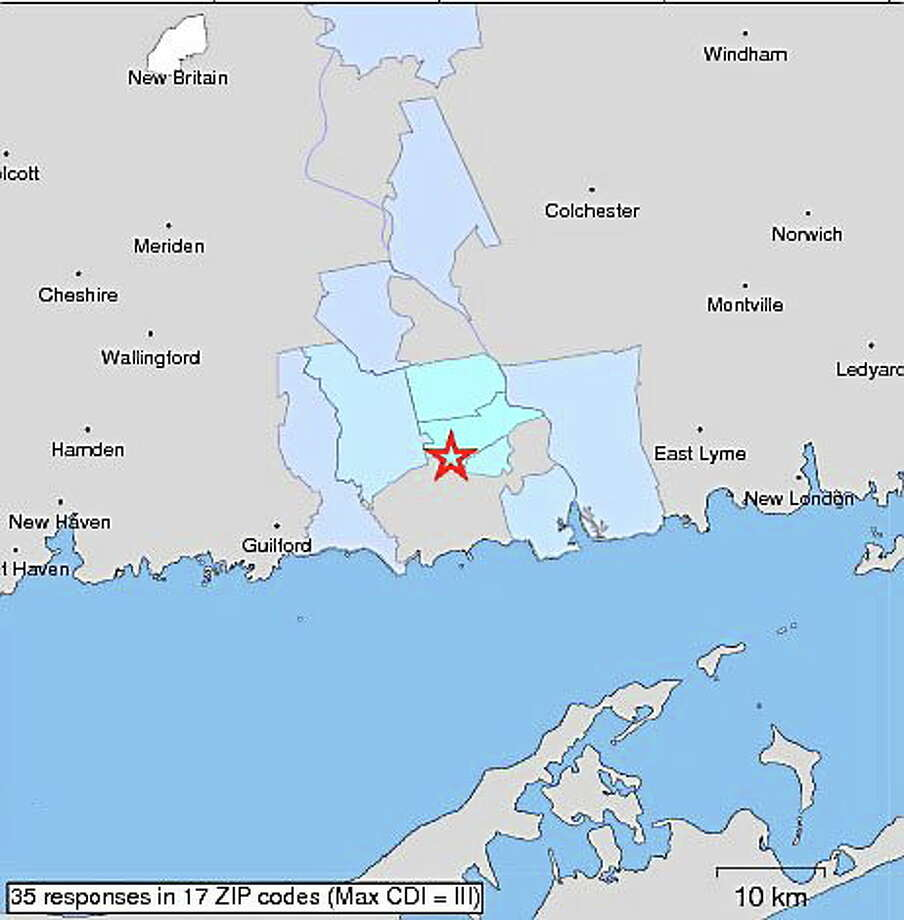 The U.S. Geological Survey confirmed there was a 2.7 magnitude earthquake Thursday morning in Deep River. Photo: Courtesy USGS