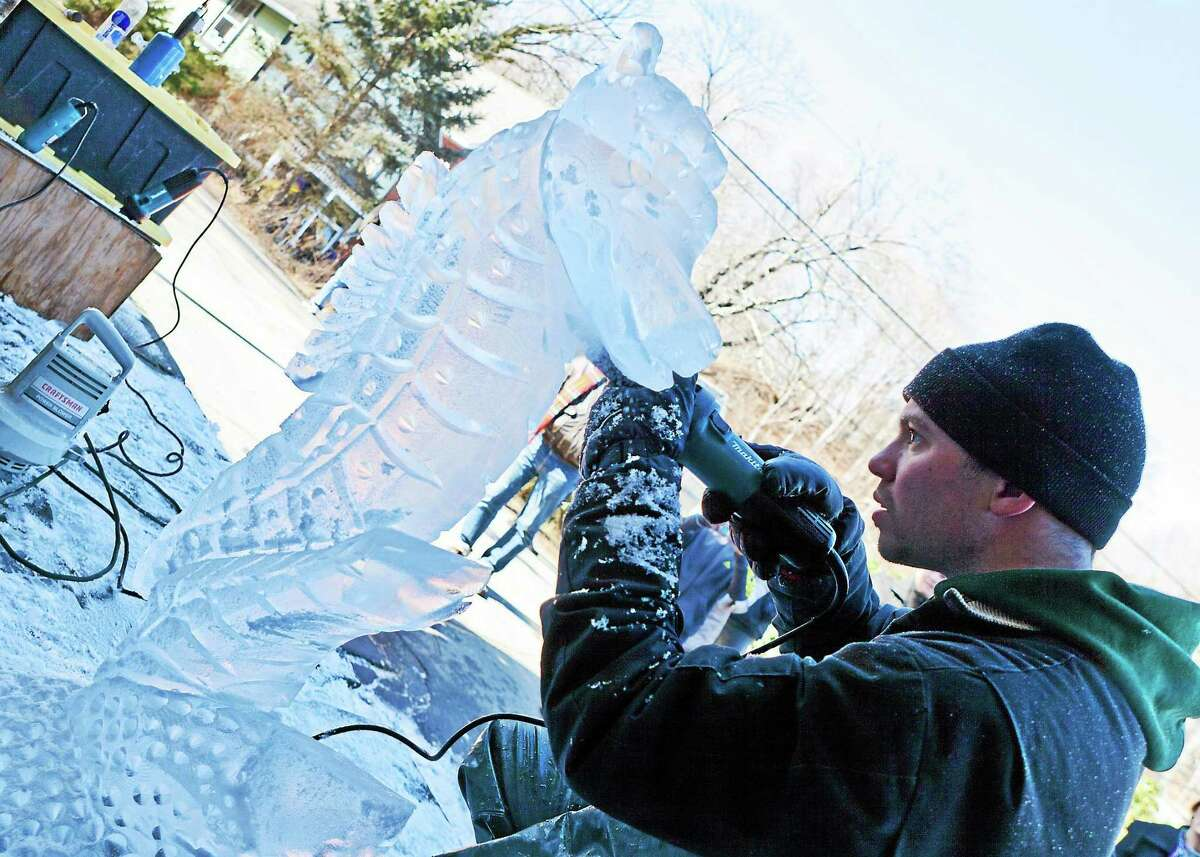 Contributed photo by John Stack Ice carver Rich Daly is one of the attractions at this weekend's Chester Spring Carnival.