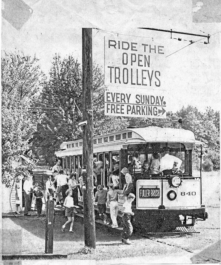 Contributed photo An image of an old trolley, taken by a member of the Connecticut Trolley Museum in Windsor. Photo: Journal Register Co.