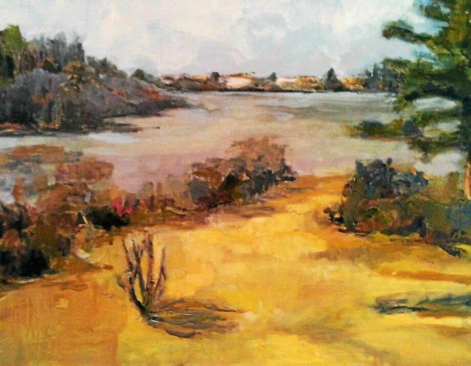 "Image courtesy of the artist ""Winter Ice,"" oil on linen, by Kathleen Jacobs. Photo: Journal Register Co."