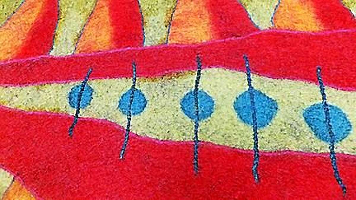 Contributed photos Fibrations by Carol Ingram: An Exhibit of Felted Work Inspired by the Land & People of India.