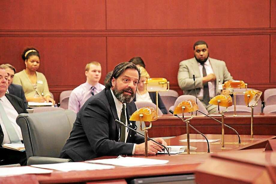 State Rep. Phil Miller testifies before the Appropriations Committee on a bill that would boost education funding for Haddam under proposed changes in the Education Cost Sharing grant formula. Photo: Contributed Photo