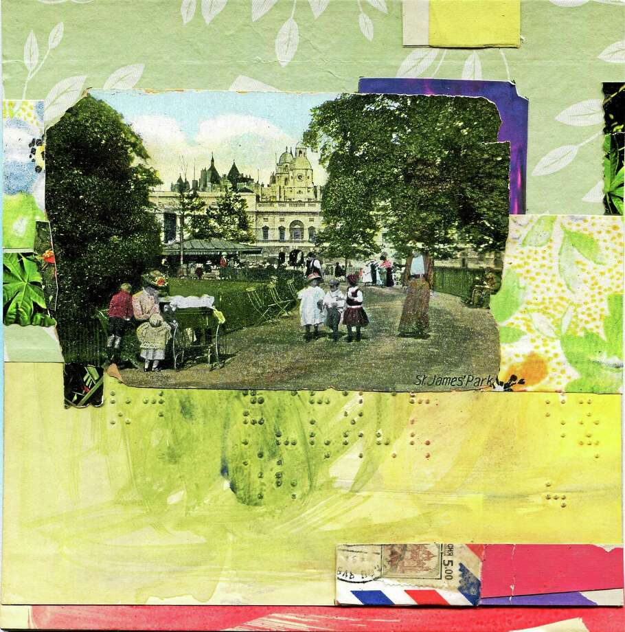 """Contributed photo  Award winning collage artist Cheryl Dawdy will have a month long showing of her most recent collages at Middletown Framing Gallery in downtown Middletown through Aug. 28. Above, """"St. James Park"""" by Dawdy. Photo: Journal Register Co."""