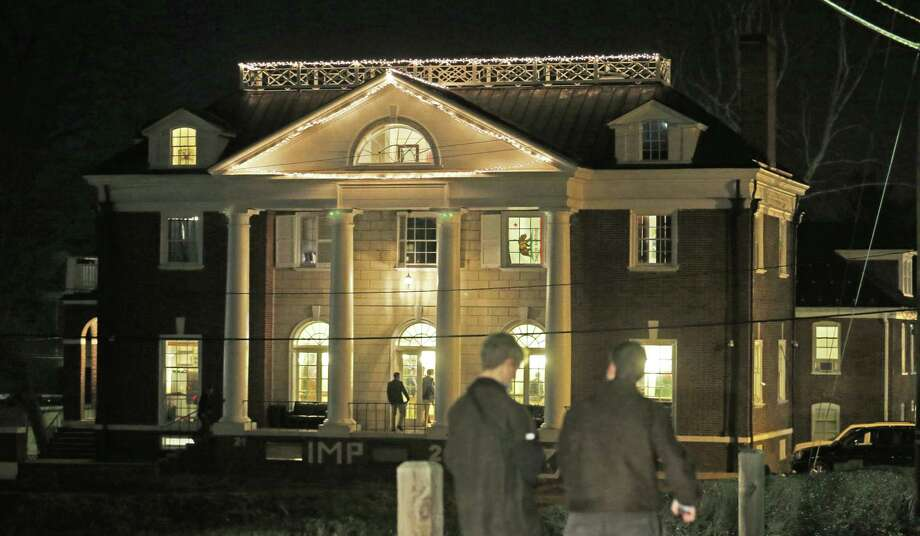 Students participating in rush pass by the Phi Kappa Psi house at the University of Virginia in Charlottesville, Va., in this Jan. 15, 2015 photo. Photo: AP Photo/Steve Helber, File  / AP