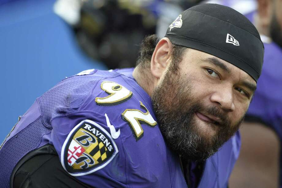 Baltimore Ravens defensive tackle Haloti Ngata has been suspended without pay for four games for violating the NFL's policy on performance enhancing substances, the league announced Thursday. Photo: Nick Wass — The Associated Press File Photo  / FR67404 AP