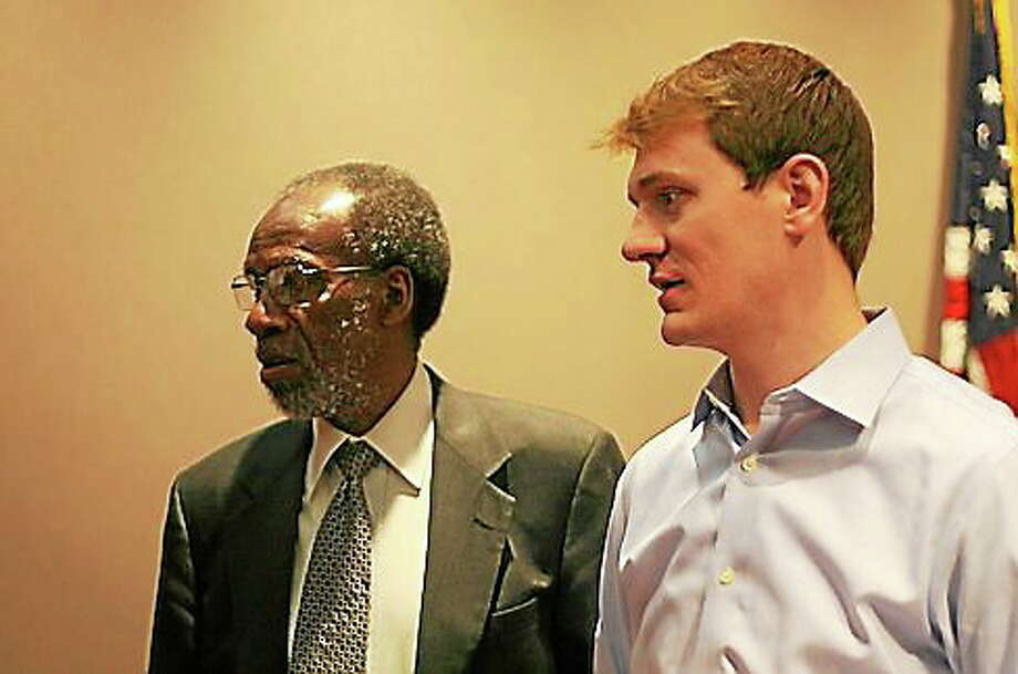 Bill Dyson and Ken Barone of the Connecticut Racial Profiling Prohibition Project. Photo: Hugh McQuaid/CTNewsJunkie.com