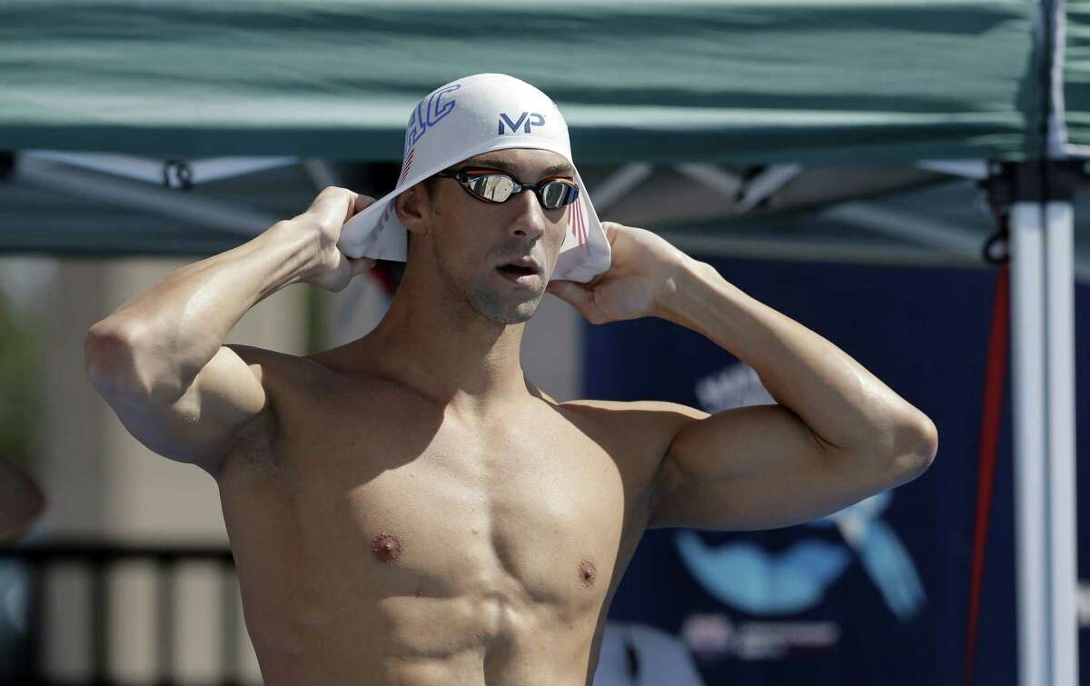 Michael Phelps prepares to compete in the preliminary round of the men's 200-meter breaststroke Monday at the the U.S. swimming nationals in San Antonio.