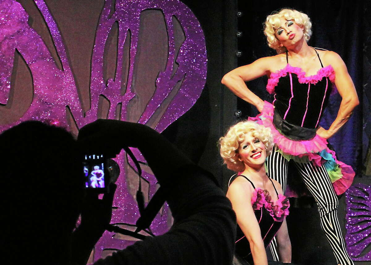 Photos by Anne Hudson Jay Garrick and Carlos Chang are some of the beautiful dancers at the drag club in St. Tropez in Ivoryton Playhouse's performances of