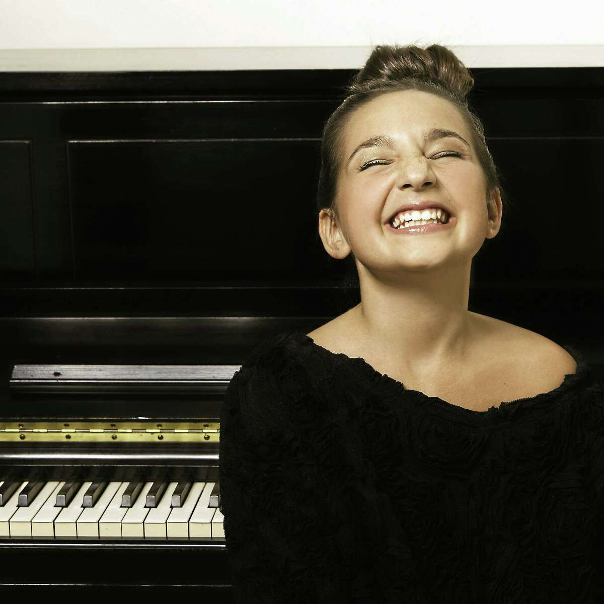 Submitted photo Emily Bear is a classical and jazz pianist. At 12, she is what many call a prodigy. She'll perform with her quartet in Clinton Sunday, Aug. 17 at town hall.