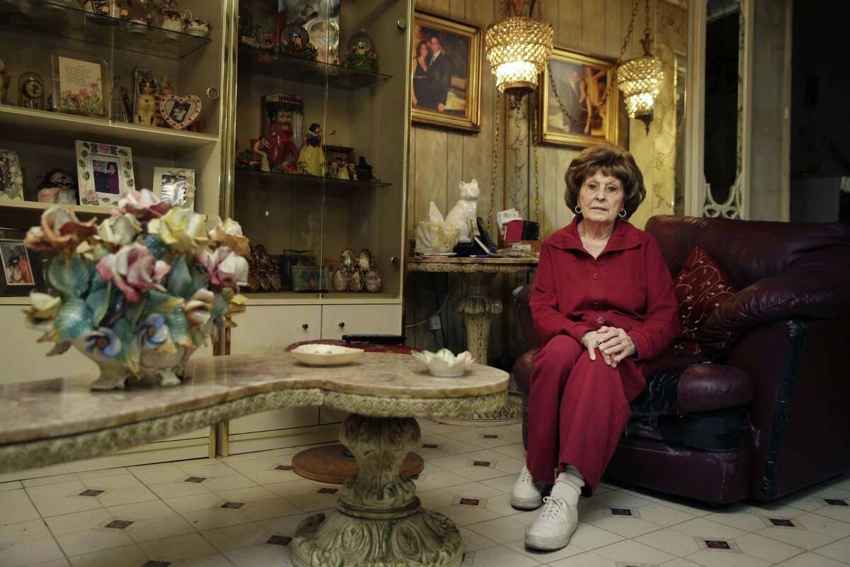 Adele Sarno poses for picture in her apartment in the Little Italy section of Manhattan, Tuesday, March 31, 2015, in New York. A fight in Manhattan's Little Italy neighborhood between a landlord who wants a tenant out and a tenant who doesn't want to go isn't just the run-of-the-mill New York City real estate struggle. The landlord is a museum dedicated to the legacy of Italian Americans in the area. The tenant? Sarno, an 85-year-old Italian American woman, who's lived there for more than 50 years.