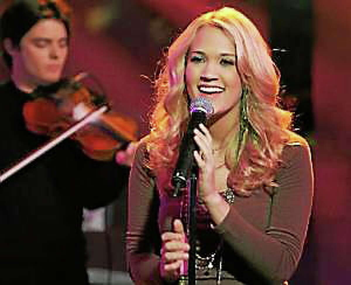 "Carrie Underwood performs on the ""Today"" show in New York, on Nov. 22, 2005."