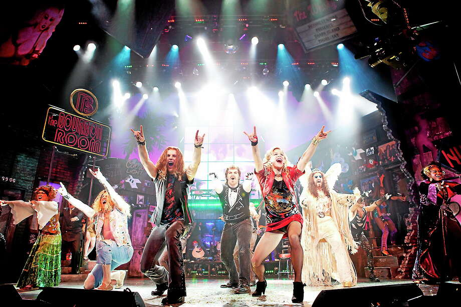 "Submitted photo - Waterbury Palace Theater ""Rock of Ages"" celebrating the rock age of the 1980s, is being presented at the Palace Theater in Waterbury. Photo: Journal Register Co. / Photo by Scott Suchman"