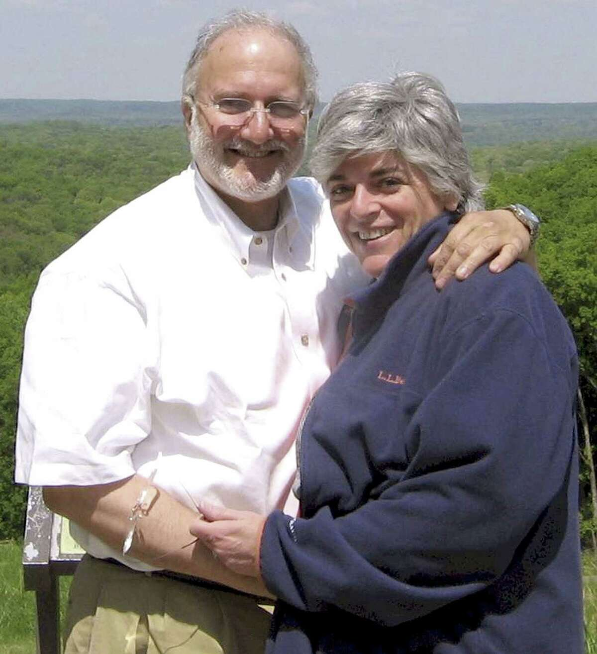 FILE - In this file handout photo provided by the Gross family shows Alan and Judy Gross in an unknown location. Five years to the day after his arrest in Cuba on espionage charges, former U.S. contractor Alan Gross is threatening a hunger strike, refusing almost all visitors and predicting he will die in prison if he isnít freed by his 66th birthday in May, relatives and backers said Wednesday, Dec. 3, 2014. (AP Photo/Gross Family, File)