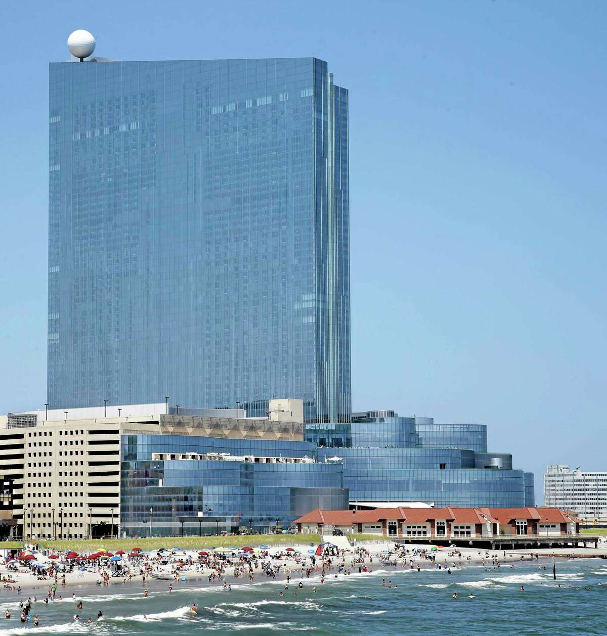 In this Wednesday July 23, 2014 photograph, the Revel Casino Hotel is seen in Atlantic City, N.J. The Revel Casino Hotel will close its doors on Sept. 10, 2014 after failing to find a buyer in bankruptcy court, company officials announced Tuesday, Aug. 12, 2014. (AP Photo/Mel Evans)