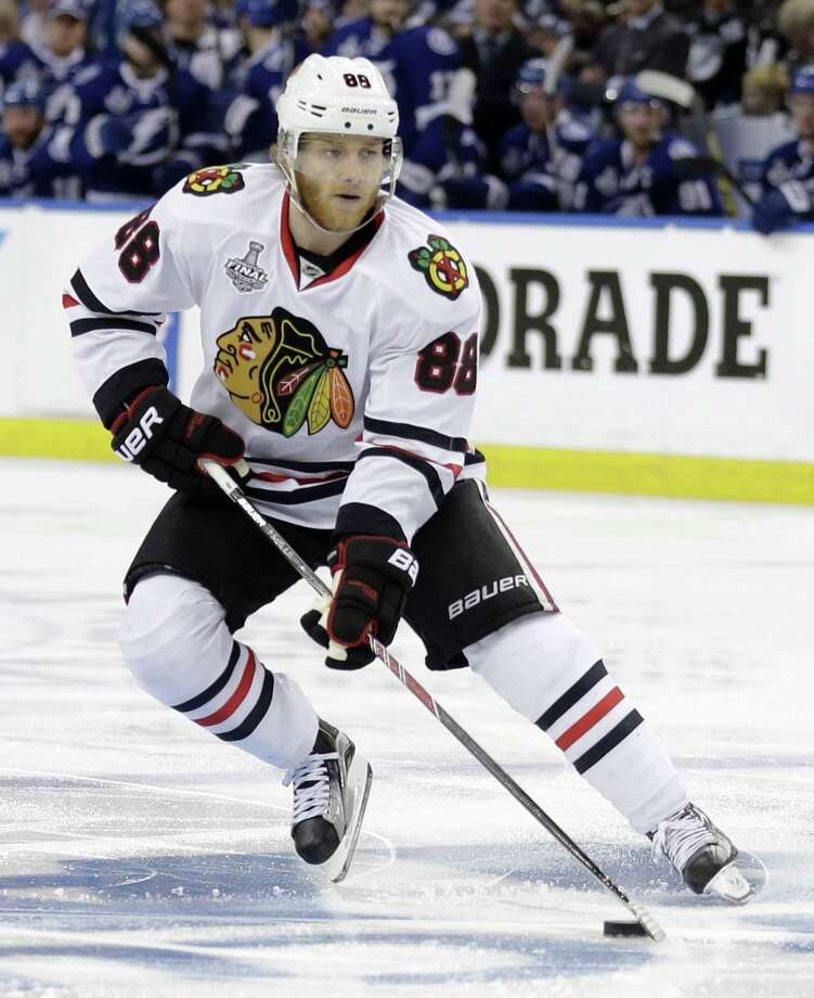 """Chicago Blackhawks right wing Patrick Kane hired a lawyer a day after the NHL said it was """"following developments"""" of a police investigation involving Kane. Photo: Chris O'Meara — The Associated Press File Photo  / AP"""