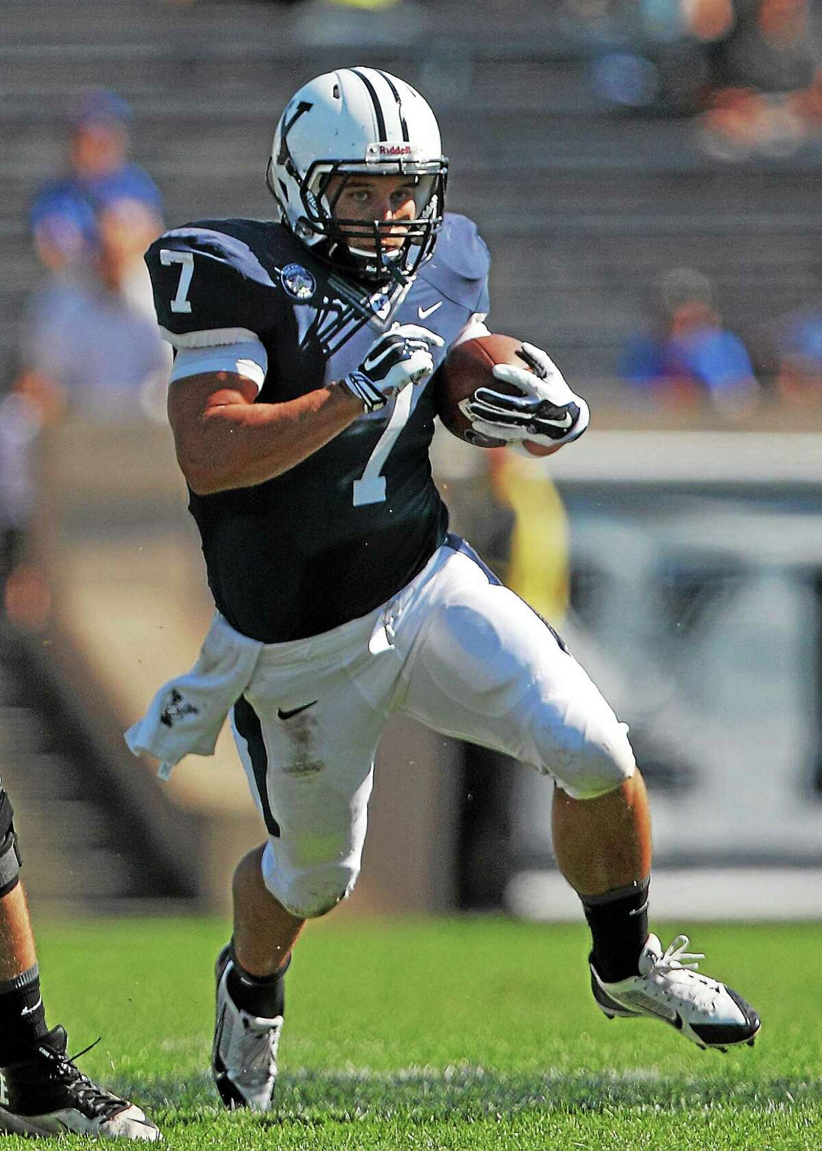 Yale running back Candler Rich is the most experienced of the returning Bulldog backs.