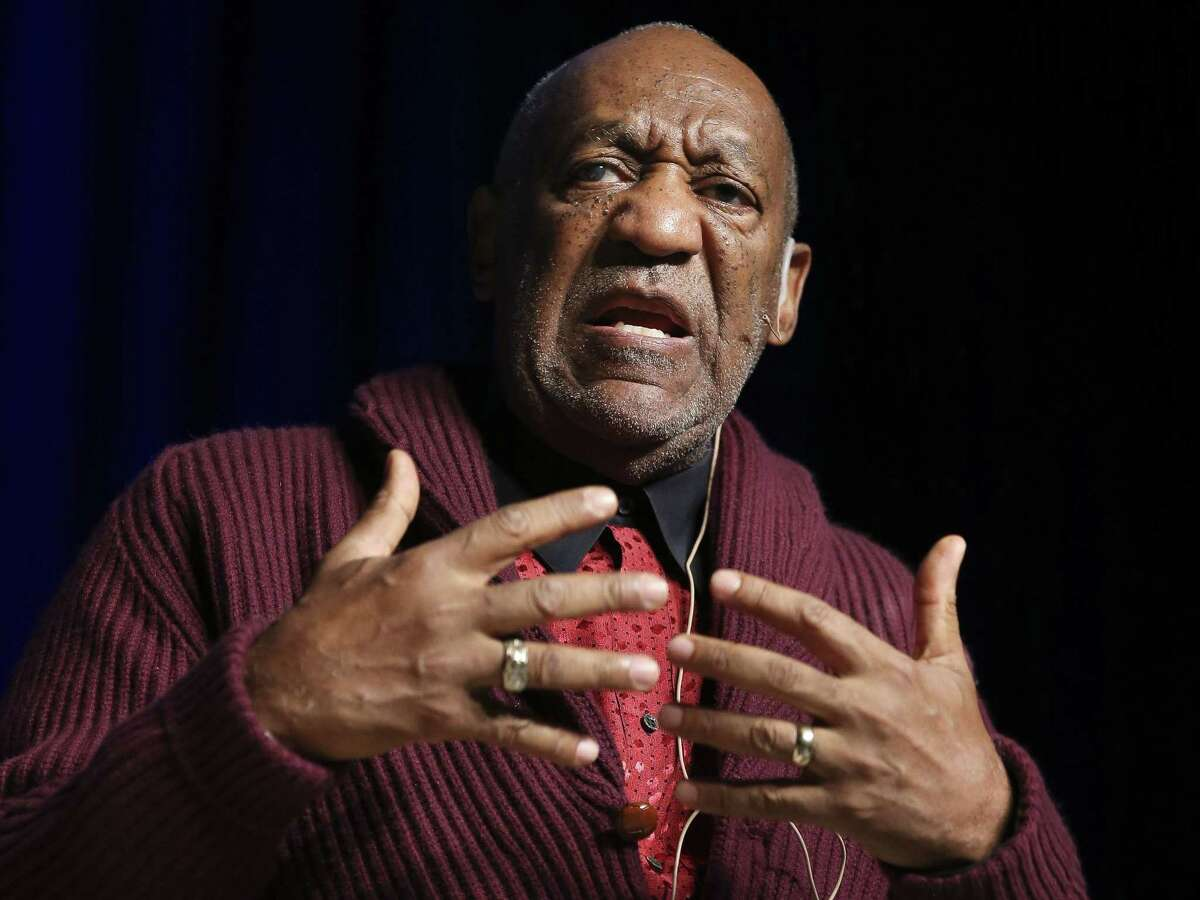 FILE - In this Nov. 6, 2013, file photo, comedian Bill Cosby performs at the Stand Up for Heroes event at Madison Square Garden in New York.