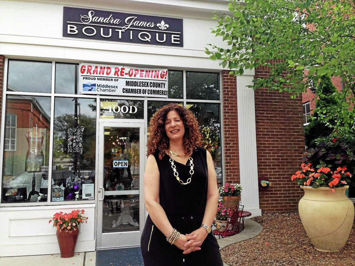 Common councilwoman and former town clerk Sandra Russo-Driska, owner of Sandra James Boutique, recently celebrated her move from Newfield Street to Main Street in Middletown in the old Trendz On Main spot.