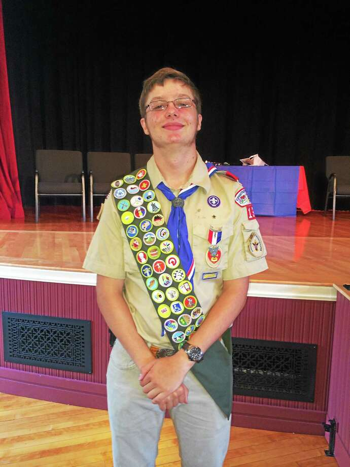 Chester/Deep River Boy Scout Troop 13's newest Eagle Scout is Josef Fenton Lenz Photo: Michael Rutty - Special To The Press
