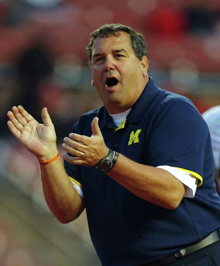 Brady Hoke is out as head football coach at Michigan. Photo: Rich Schultz — The Associated Press File Photo  / FR27227 AP