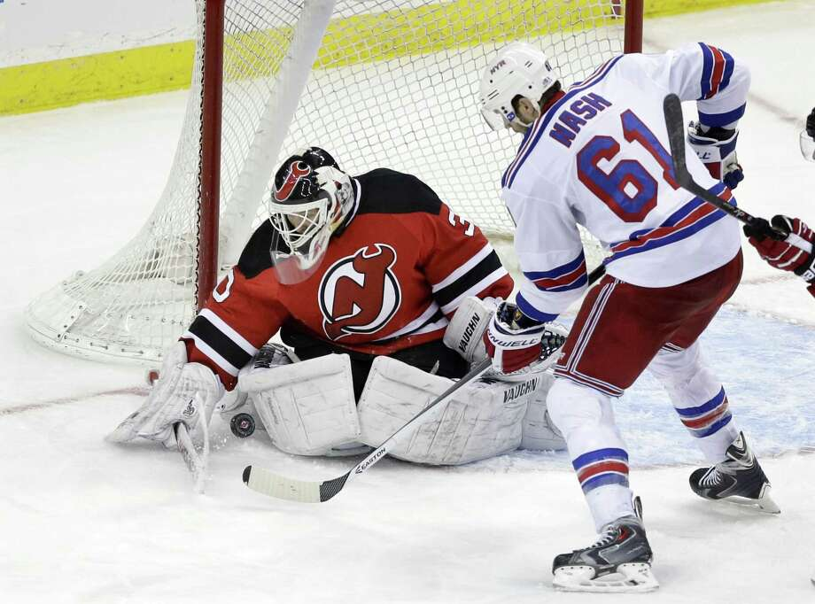 The St. Louis Blue have signed free agent goalie Martin Brodeur, 42, to a one-year contract. Photo: Mel Evans — The Associated Press File Photo  / AP