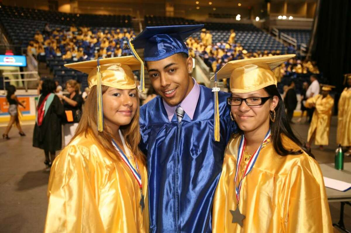 The Harding High School graduation at the Arena at Harbor Yard in Bridgeport on Thursday, June 17, 2010.