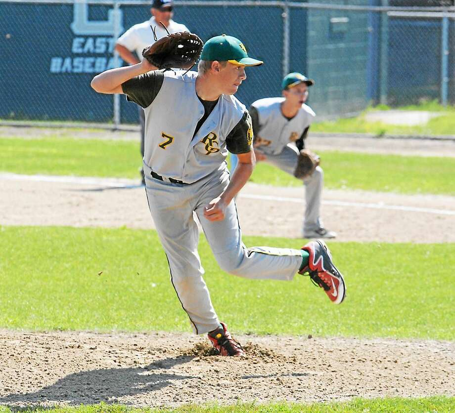 Jimmy Zanor ó The Middletown Press RCP's Matt Wyslick tossed a complete game to lift Post 105 past Riverside (R.I.) on Friday at Cranston Stadium. Photo: Journal Register Co.