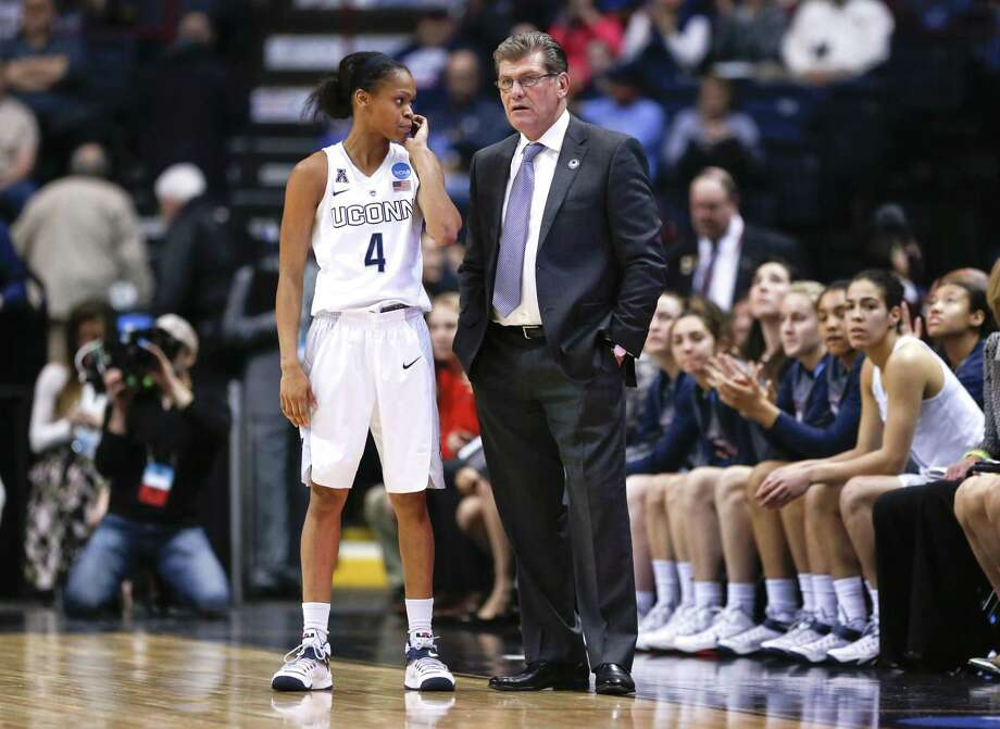 UConn head coach Geno Auriemma hit a home run when recruiting Moriah Jefferson and her classmates, Breanna Stewart and Morgan Tuck. Photo: Mike Groll — The Associated Press  / AP