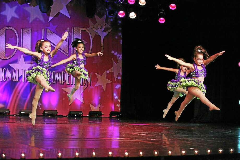 "Members of Middletown's Lakeside Academy of Dance junior petite group known as the Starletts perform their Elite Gold winning and fifth-place winning jazz number ""Little Shop of Horrors"" at the Starbound National Dance Competition Photo: Courtesy Lakeside Dance"